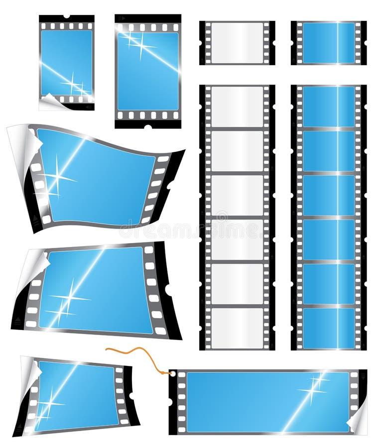 Etiquetas y etiquetas engomadas de la tira de la película libre illustration