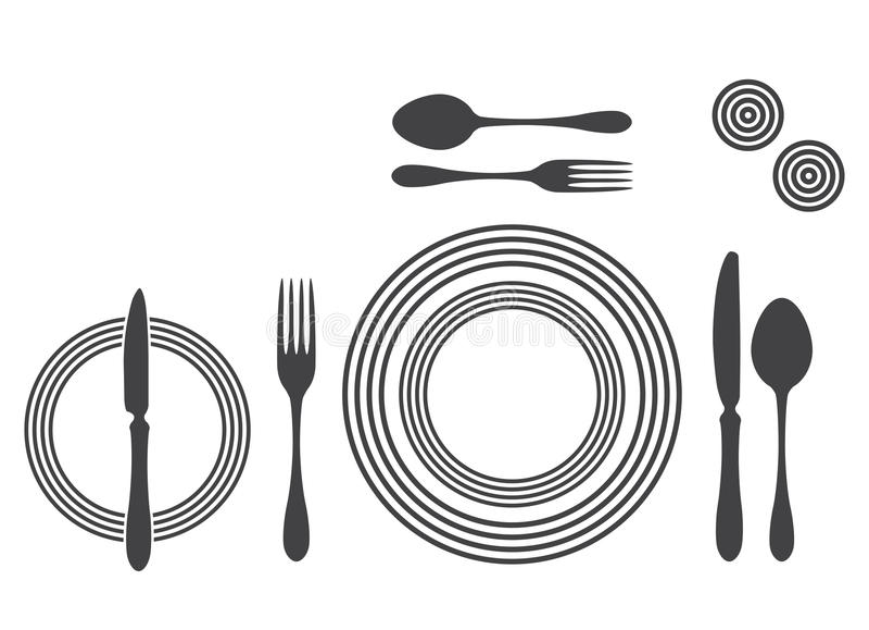 Etiquette Proper Table Setting Stock Vector - Illustration of food ...