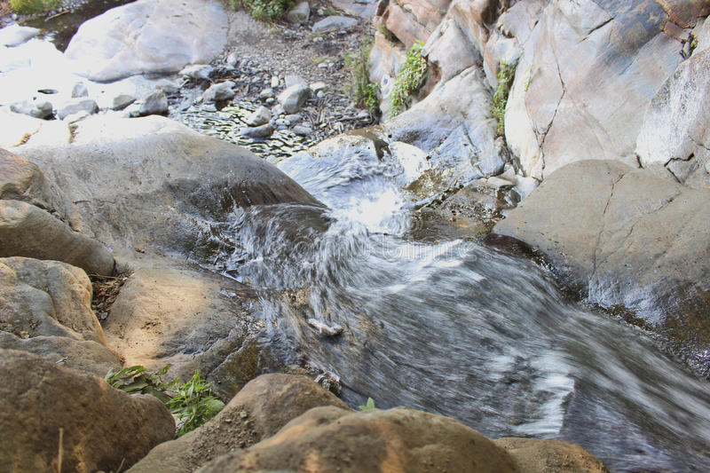 RANCHO CUCAMONGA, CA - Etiwanda Falls, upper view stock image