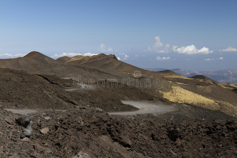 Etna北部风景 库存照片