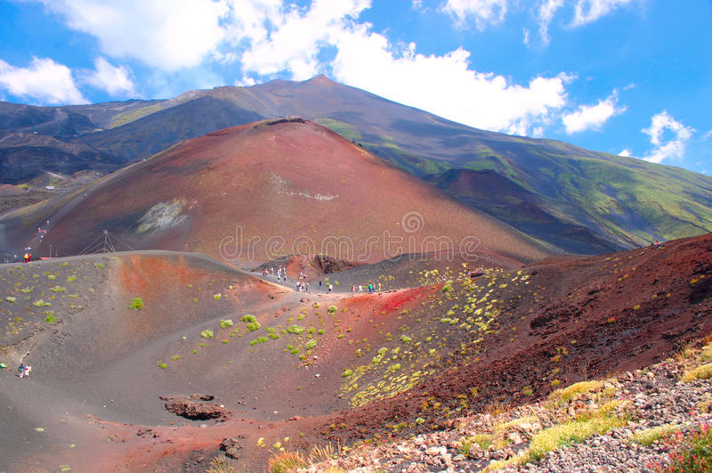 etna挂接西西里岛山顶 图库摄影