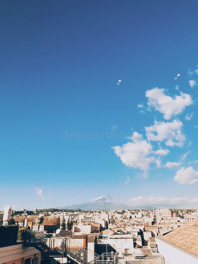 Etna火山视图 免版税库存图片