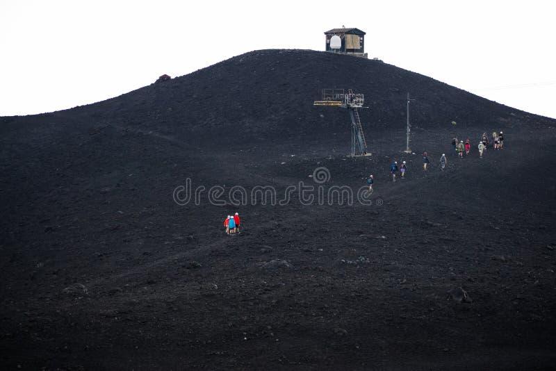 Etna火山,西西里岛,意大利 库存照片