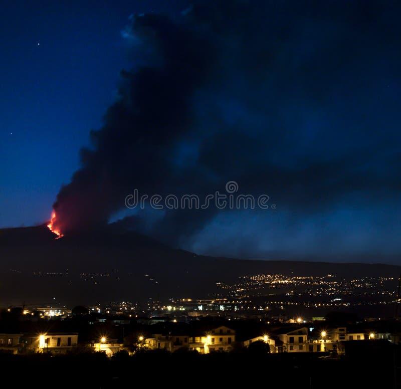 Etna火 免版税库存图片