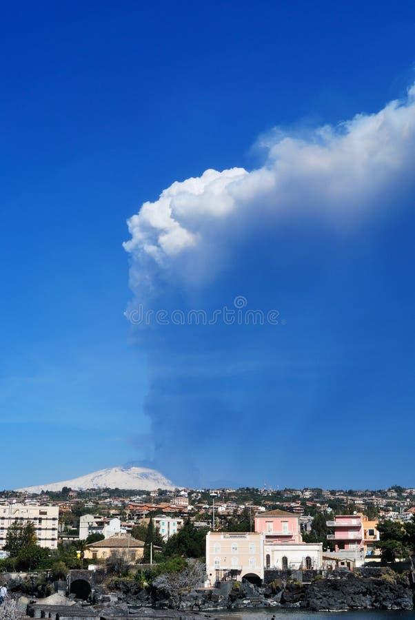 Etna的爆发 免版税库存图片