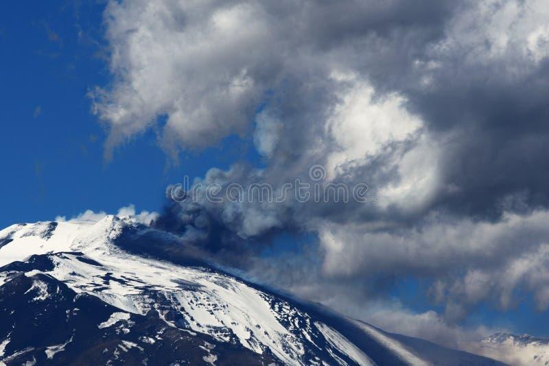 Etna的爆发 图库摄影