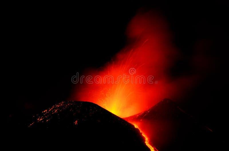Etna的爆发 库存照片