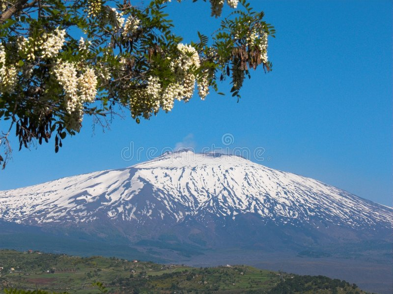 etna ηφαίστειο τοπίων στοκ φωτογραφία