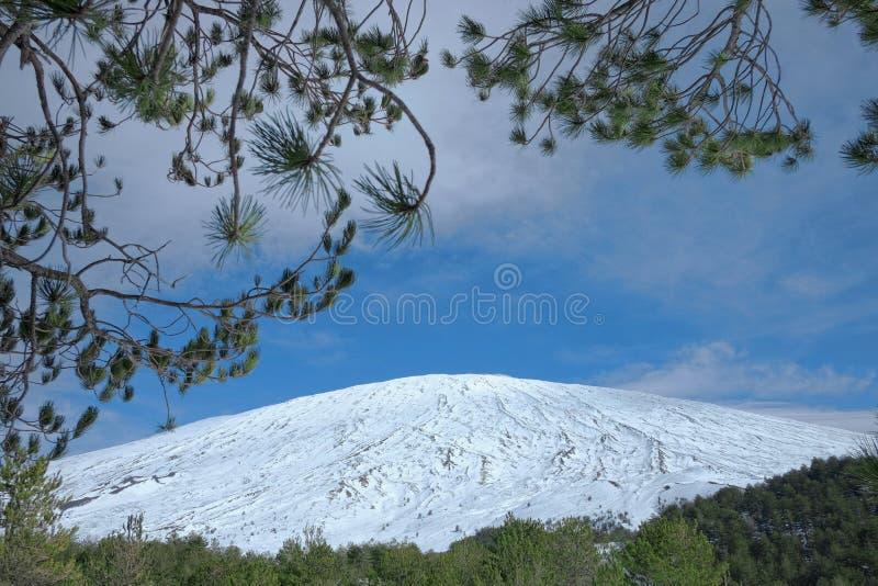 Etna τοποθετεί πλαισιωμένος, Σικελία στοκ φωτογραφία με δικαίωμα ελεύθερης χρήσης