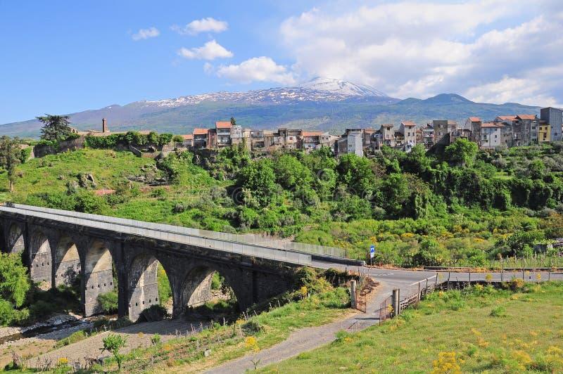 Etna. stock foto