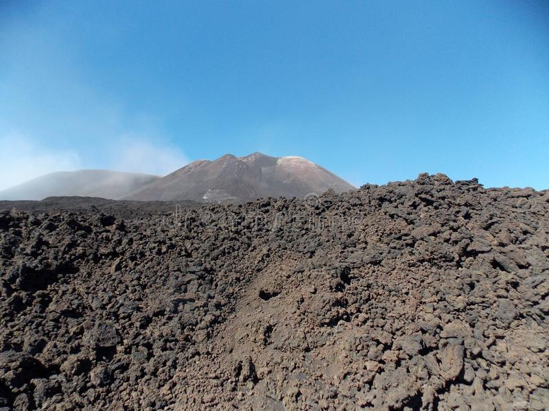 Powerful Etna royalty free stock photography