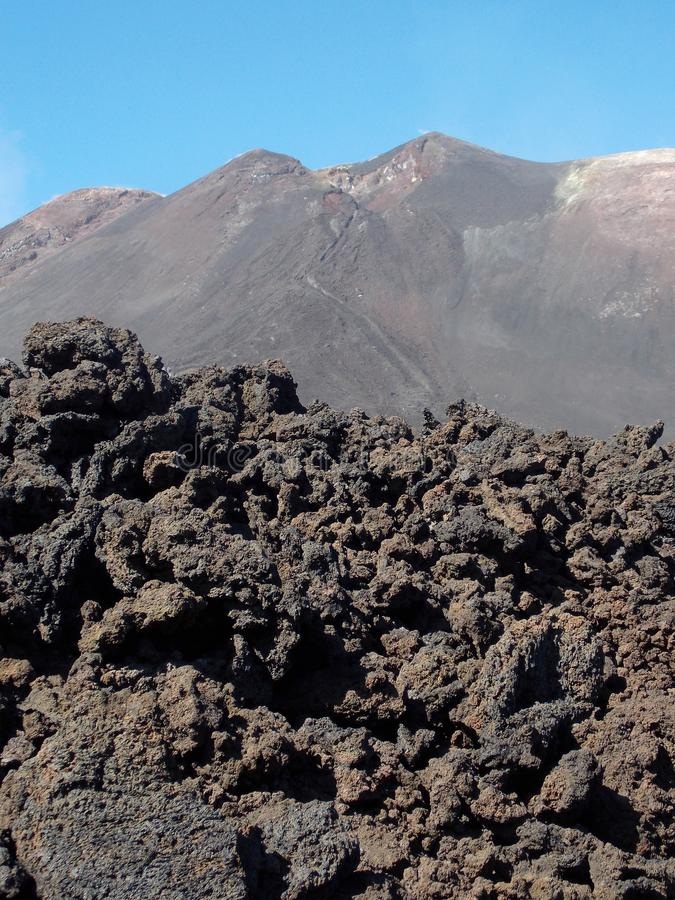 Powerful Etna, Sicily stock image