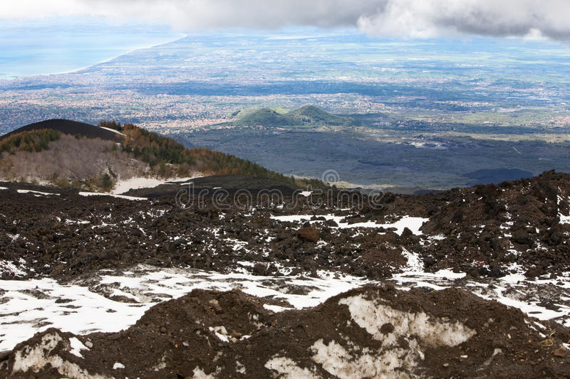 Download Etna and Catania stock photo. Image of horizontal, image - 24631776