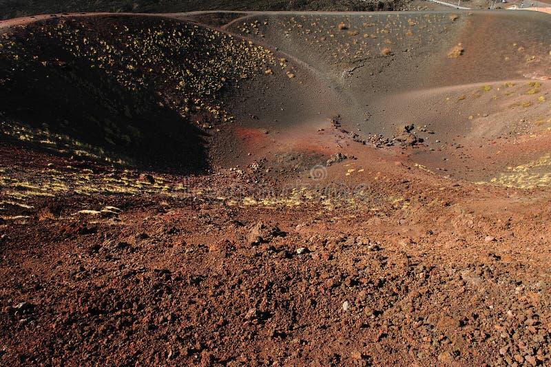 Etna crater 2 stock photo
