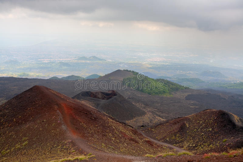 Download Etna Craters, Sicily, Italy Royalty Free Stock Images - Image: 20645909