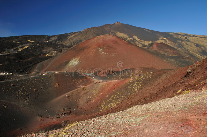 Etna landscape stock photography