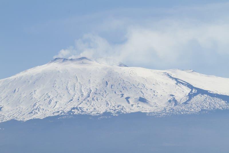 Etna landscape. Mount Etna landscape with snow royalty free stock photos