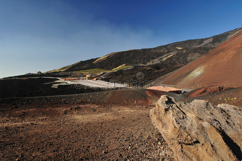 Etna refuge royalty free stock image