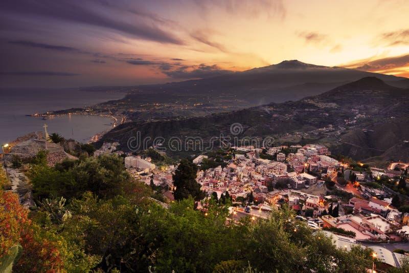 Etna, Sicilië stock afbeelding