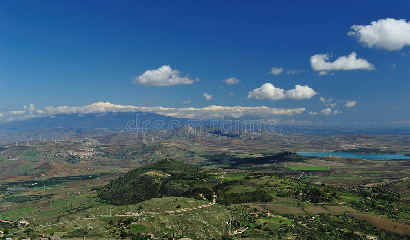 Etna Sicilian landscape 2 royalty free stock photography