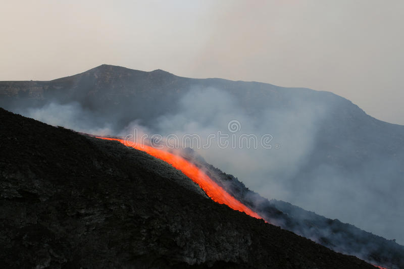 etna spływowy lawowy wulkan zdjęcie royalty free