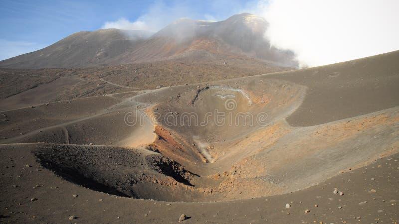 Etna Summit Craters, Sicilia imagen de archivo