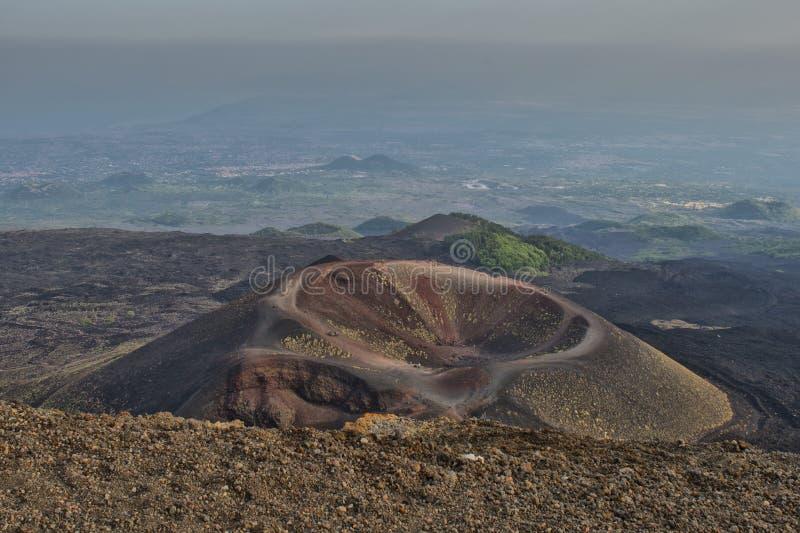 Download Etna volcano caldera stock photo. Image of park, mount - 35294134
