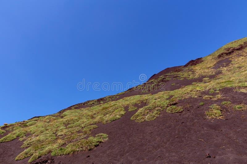 Etna Volcano red lava royalty free stock photos