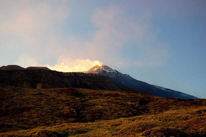 etna vulcan στοκ φωτογραφία με δικαίωμα ελεύθερης χρήσης