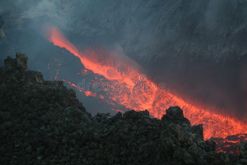 Etna vulcan 15. A close up picture of Etna vulcan magma stock photo