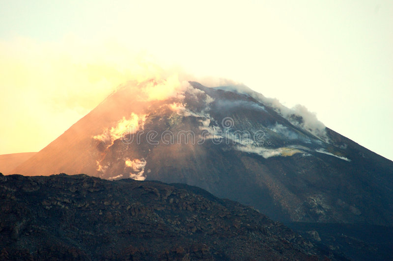 The Etna vulcan II royalty free stock images