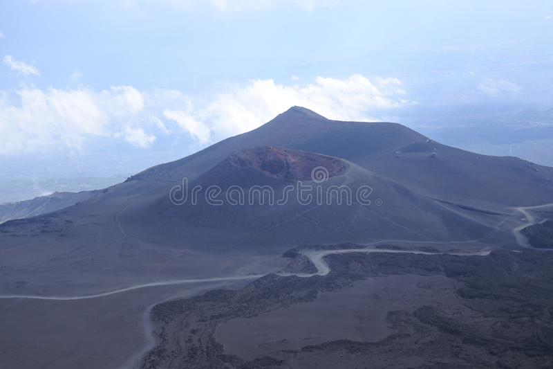 Etna vulcan in Sicilia immagine stock