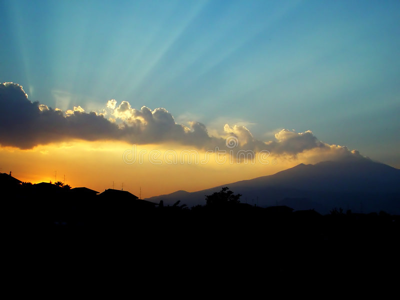 Download Etna vulcano stock image. Image of flow, etna, light, hill - 4621