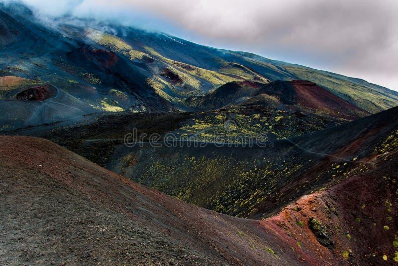 Etna vulcano stock photos