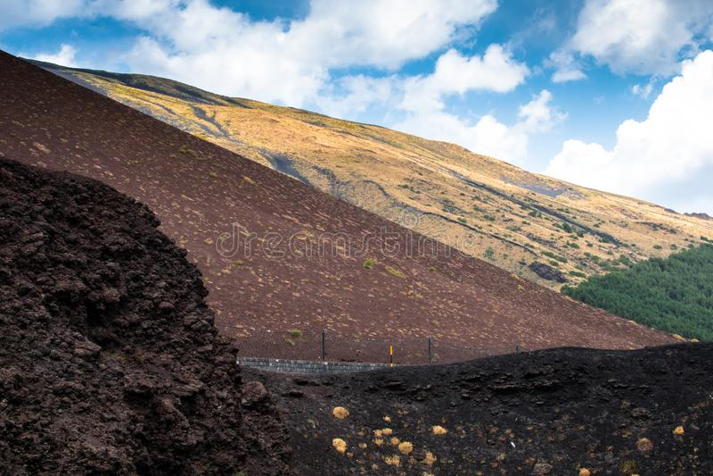 Etna vulkan, Sicilien, Italien arkivfoto