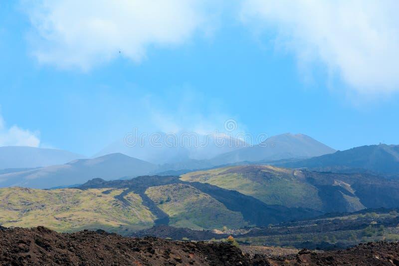 Etna vulkansikt, Sicilien, Italien royaltyfri fotografi