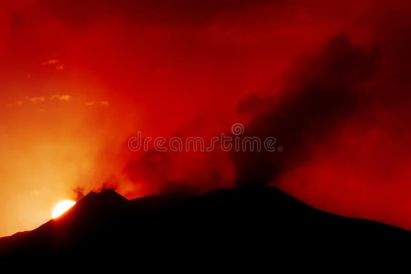 etna wulkan zdjęcie royalty free