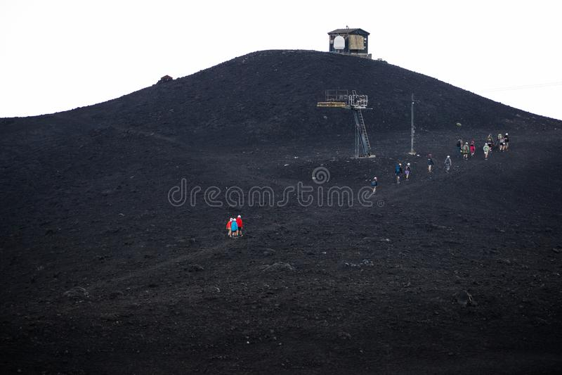 Etna wulkan, Sicily, W?ochy zdjęcia stock