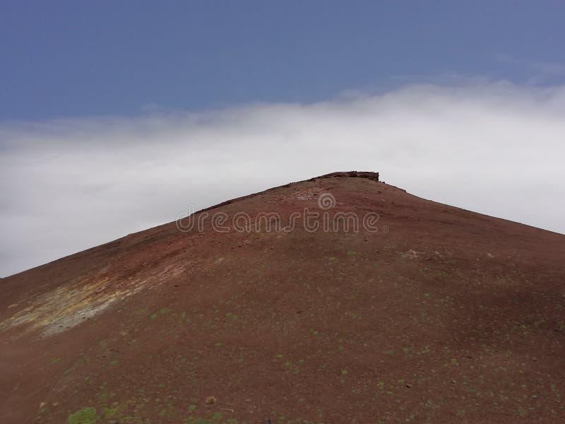 Etna wulkanu _czerwieni kratery zdjęcie stock