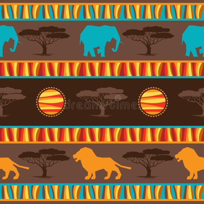 Etniczna afrykańska abstrakcjonistyczna geometryczna bezszwowa tkanina