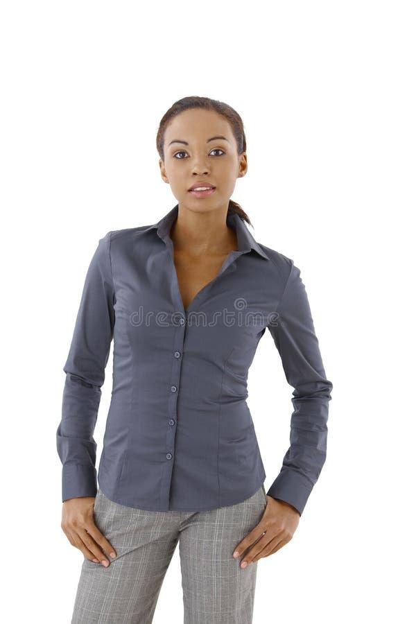 Etniczna kobieta w eleganckim odziewa obraz royalty free