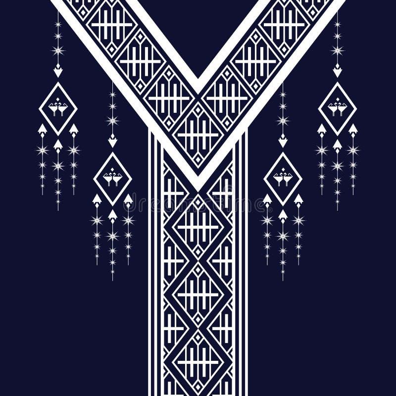 Etniczna szyi broderia ilustracji