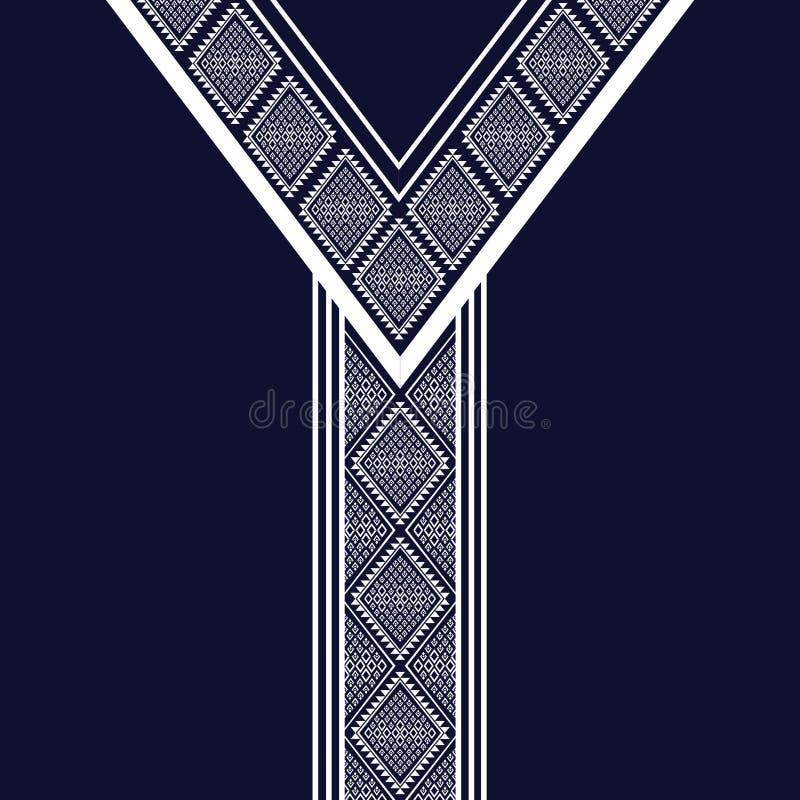 Etniczna szyi broderia ilustracja wektor