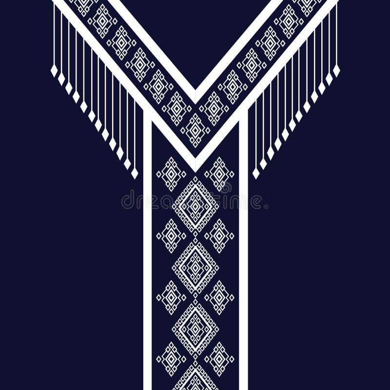 Etniczna szyi broderia royalty ilustracja