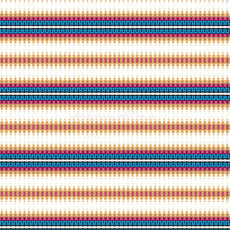 Etniczne Rodzime Wibrujące Abstrakcjonistyczne Dynamiczne Bezszwowe płytki Cool tło wzór ilustracji