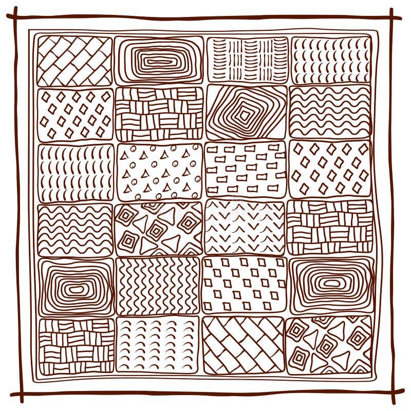 etniczne tło abstrakcyjny geometryczny wzór ilustracja wektor