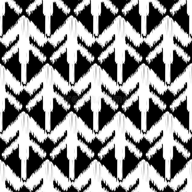 Etnicznego boho bezszwowy wzór E brushwork Ręki kluć się Skrobaniny tekstura r ilustracji
