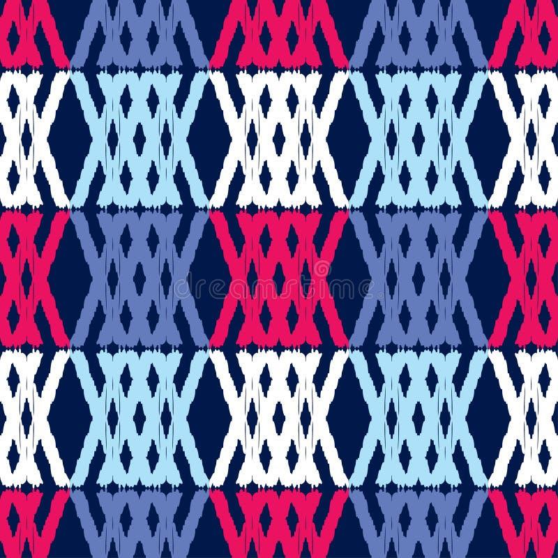 Etnicznego boho bezszwowy wzór tradycyjne ornament brushwork Ręki kluć się plemienny wzoru Ludowy motyw ilustracja wektor