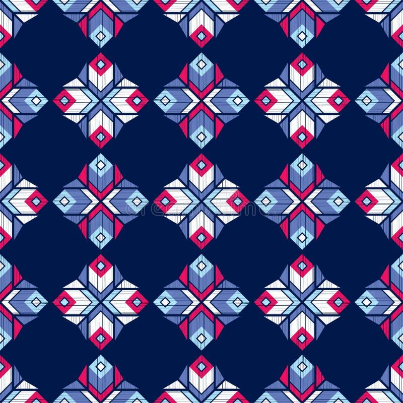 Etnicznego boho bezszwowy wzór tradycyjne ornament geometryczny tło plemienny wzoru Ludowy motyw ilustracja wektor