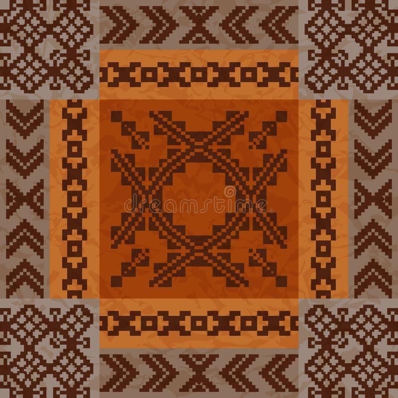 Etnicznego ornamentu dywanowy projekt royalty ilustracja